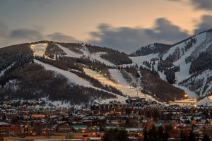 Night lights at Park City Mountain Resort